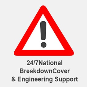 24/7 breakdown support when you hire from smart platform rental
