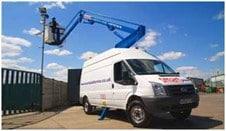 Van mounted cherry picker hire powered access hire platform hire
