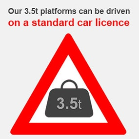 smart platforms hire self drive truck mounted cherry pickers on a standard car driving license
