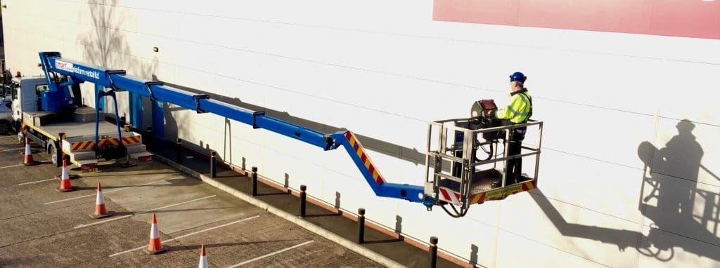 Smart Platforms S33J 33m truck mounted cherry picker platform for hire