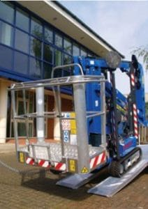 NT14 Smart Platforms Track mounted cherry picker