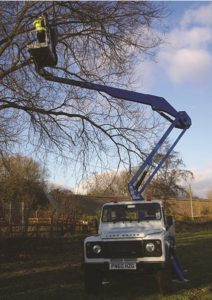 RT13 4x4 mounted cherry picker hire