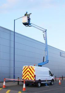 V12 van mounted cherry picker