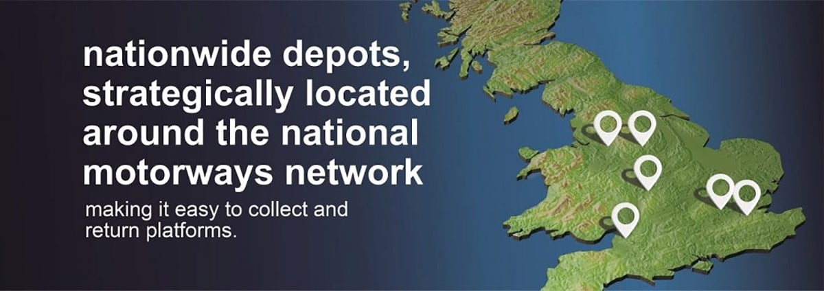 Smart Platform Rental nationwide Depots