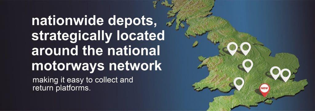 Smart Platforms nationwide cherry picker hire depots